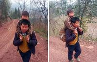Китайский отец преодолевает 14 километров ежедневно ради образования сына