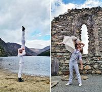 Пара акробатов поженится в 38 уголках мира за 83 дня
