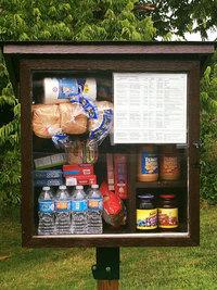 В США женщина сделала маленькую уличную кладовую, где можно оставить еду нуждающимся