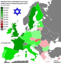 Карты, демонстрирующие, в каких странах Европы самый высокий уровень расизма