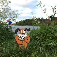 Шведский художник украшает улицы пиксельными картинками