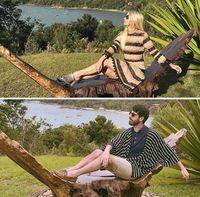 Парень оказался на самом популярном у моделей курорте и повторил фотографии девушек