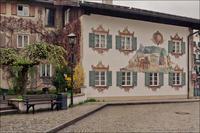 35 фото альпийской деревни Обераммергау, в которой каждый дом — произведение живописи