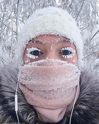 Новые фото из Оймякона, поселка, в котором от мороза -62°C сломался термометр