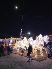 Световые инсталляции на пристани в Севастополе