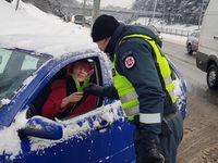 Как литовские полицейские поздравляли женщин с международным женским днем