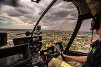 Ошеломительные фото массивной песчаной бури, снятые с вертолета