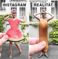 Instagram и реальность: немка шутит над идеальными фотографиями в соцсетях