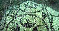 Мозаика на морском дне в археологическом парке Байя