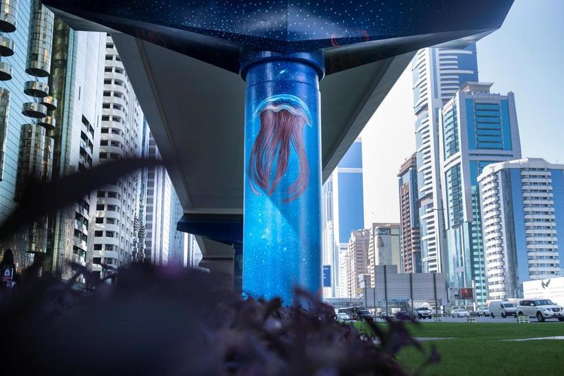 Метро Дубая станет художественной галерей под открытым небом