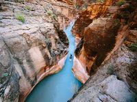 Экстрим фото недели: Сара Баттерфилд покоряет Стоячий ручей в Большом каньоне
