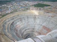 Заброшенная алмазная шахта «Мирная»
