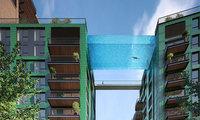 В Лондоне построят «небесный бассейн» со стеклянным дном на высоте 35 м над землей!