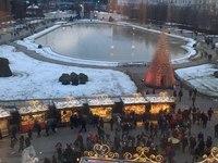 Ярмарка в Вене рядом с Бельведером в декабре
