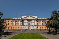 Парадный фасад и ворота Михайловского замка