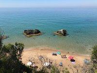 Август на пляже Миртиотисса