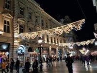 Новогодние украшения на белградских улицах