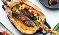 Блюдо на рыбном фестивале